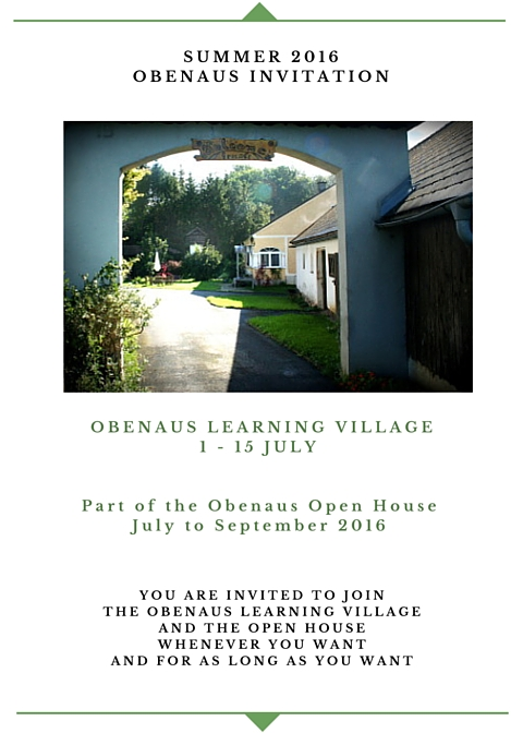 Learning Village invitation